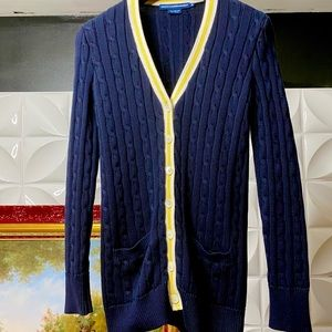 Ralph Lauren cable knit button down sweater